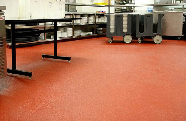 resin screed in kitchen